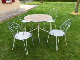 Vintage French Garden Set Metal Table & Chairs - LA98206 ... Lumisource Oregon High Back 5piece Vintage White And Aqua Small Farmhouse Table Set With Bench Metal 12ft Upcycled Board Table 12 Vintage Metal Chair Set 170 Wooden Hire Company Chairs Looking Restoration Painted Patio Fniture Modern Inspiring Chairs Stock Image Image Of Iron Old Fniture In Garden Natural Green Background Garden E6 Ldon For 8000 Sale Shpock Retro Porch Home Decor Ideas Find Great Outdoor Seating Folding Pastel Blue At Scaramanga