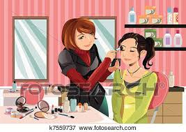 Clip Art Makeup artist at work Fotosearch Search Clipart Illustration Posters