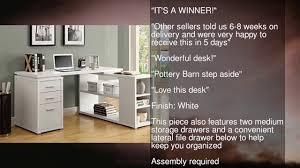 Monarch Specialties Corner Desk Brown by Monarch Specialties Hollow Core Left Or Right Facing Corner Desk