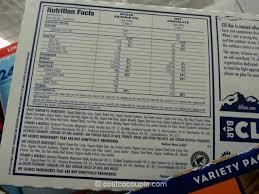 Cliff Bar Nutrition Seasonal Variety Pack 4 Clif Grade