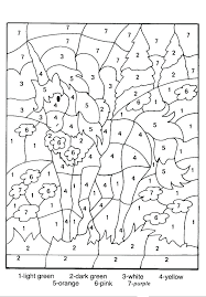 Coloring Pages With Numbers Hard Color By Number Winter For Adults Adult