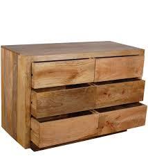 Garda Light Mango Wood Chest Drawers Four e Drawer Intended
