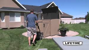 Suncast Horizontal Storage Shed Assembly by 60165 Horizontal Shed Brown1 Youtube