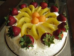 Cakes Decorated With Fruit by Chinese Birthday Cream Cake With Strawberry Mousse Filling And