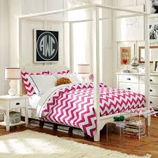 Monochromatic White Bedroom Pottery Barn Teen Roseville With Pink