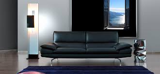 canap cuir contemporain canapé contemporain en cuir 2 places noir dave caliaitalia