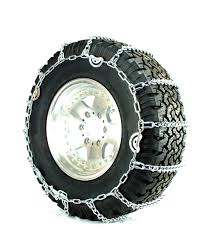 Titan Truck Tire Chains V-Bar CAM Type On Road Ice/Snow 7mm 35x12.50 ...