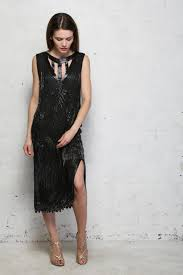 Vintage Black Flapper Dress