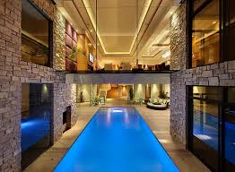 View In Gallery Walkway Above The Pool Creates A Cool Visual