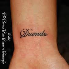 Duende Poem Tattoos On Wrist