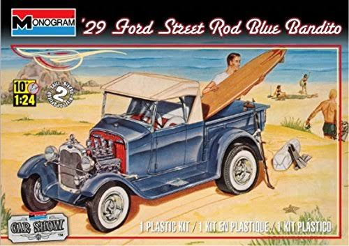 Monogram '29 Ford Street Rod Car Toy - 1/24 Scale, Blue Bandito