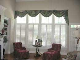 Modern Valances For Living Room by Swag Curtains For Large Windows Custom Valances Swag Valance Swags