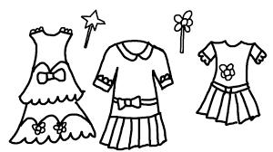 Unique Dresses Coloring Pages 67