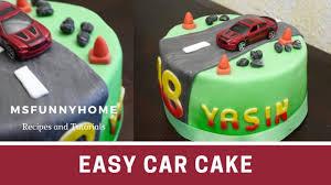 einfache und schnelle fondant torte für anfänger auto torte zum 18 geburtstag