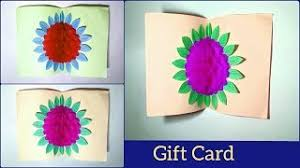 Handmade Gift Card Using Craft Paper How To Make A Pop Up