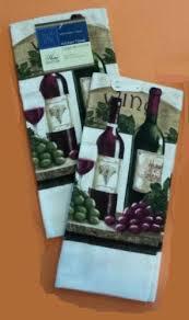 Wine Themed Kitchen Set by Wine Theme Kitchen Set 7 Pc Towels Oven Mitt Potholders Wine