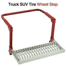 TRUCK SUV TIRE Wheel Step Up Adjustable Ladder Non-Slip Platform ...