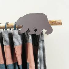 Deer Antler Curtain Rod Bracket by Moose U0026 Tree Curtain Rod Holder With Rod Cabin Place