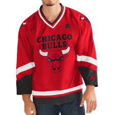 Chicago Bulls Bed Set by Amazon Com Starter Mens Chicago Bulls Nba Hockey Jersey Clothing