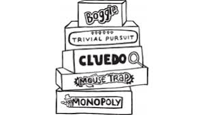 Hand Drawn Boardgame Stack