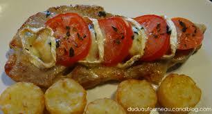 cuisine du soir rapide escalopes de veau chevre tomate dudu au fourneau