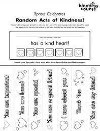 Random Acts Of Kindness Coloring Page