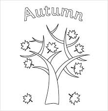 Autumn Tree Printable Page