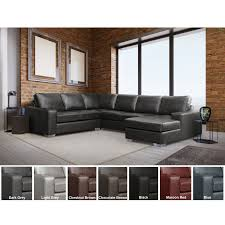 100 Best Contemporary Sofas Mitchell Modern Premium Top Grain Italian Leather Sectional Sofa