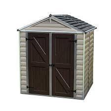 4x6 Wood Storage Shed by Amazon Com Palram Skylight Storage Shed 6 U0027 X 5 U0027 Patio Lawn