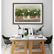 Somerset House Publishing Inc 21 In X 29 White Geraniums