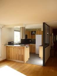 atelier cuisine rouen cuisine ouverte avec verrière style atelier