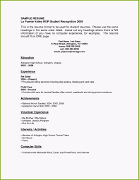 Resume For 16 Year Old With No Experience Admirably Ideas Sample