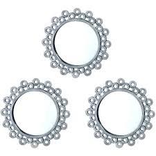 Medium Size Of 3 Piece Mirror Wall Clock Art Starburst