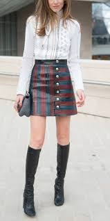 how to wear knee high boots with skirts instyle com