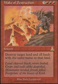 red white land destruction deck vintage mtg deck