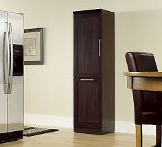 chic tall wood cabinet baxton studio glidden dark brown wood tall