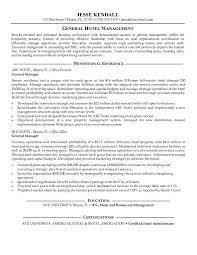 Resume Sample For Hotel And Restaurant Management Graduate Of Fresher Template