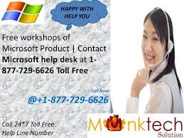 Microsoft helpline number 1 877 729 6626 for your first Solution