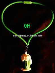 Flashing Christmas Tree Lights Necklace by Light Up Flashing Green Beer Mug Necklace Make St Patrick U0027s Day