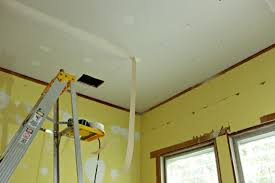 Hanging Drywall On Ceiling Trusses by How Do You Like My Joints Drywall Finishing Tips