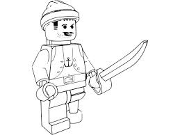Lego Pirate Models Colouring Page