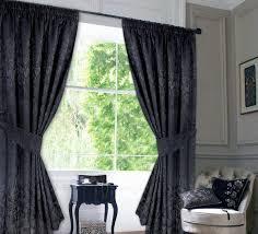 schwarze wohnzimmer vorhänge im barock stil vorhänge