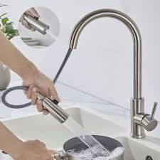 Elektrischer Wasserhahn Durchlauferhitzer Armatur Mischbatterie Wasserhahn Küche Ausziehbar Woohse Gebürstete Küchenarmatur Mit 360 Drehbar Dual Spülbrause Mischbatterie Armatur Küche Edelstahl Mit 2 Strahlarten