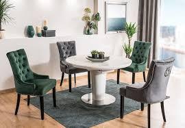 casa padrino luxus chesterfield esszimmer stuhl schwarz silber schwarz küchenstuhl mit samtstoff esszimmer möbel
