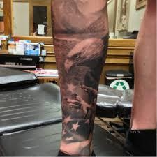 Patriotic Tattoo Done At Dark Age Tattoo