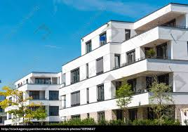 100 Modern Townhouses Stock Photo 18996847 White Modern Townhouses Seen In Berlin Germany