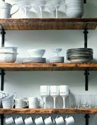 Reclaimed Wood Shelving Metal Brackets For The Laundry Room