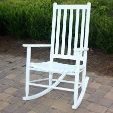 Dixie Seating Geor own Hickory Outdoor Slat Rocking Chair