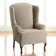 Wingback Chair Slipcovers Furniture Covers Surefit Wing Chair ... Pin By Lynne Bourn On Wedding In 2019 Chair Decorations Ding Room Chair Covers Sew Or Staple Craft Buds Slipcover For Sure Fit Soft Suede Shorty How To Make Diy High Cover Tutorial Mary Martha Chairs Black Childrens Patterns Sofas Purple Dani Pillows And Throws Seat Table Grey Parson Fniture Wingback Pattern Design Stretch Stool Protectors M Rocking Covers Current Teresting Modest Cover Pattern Rowico Lulworth Beige Loose Striped Linen White Adorable Teal Kitchen 2018 European Floral