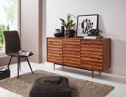 wohnling sideboard sheesham massivholz 150x81x41 cm landhaus kommode design anrichte groß